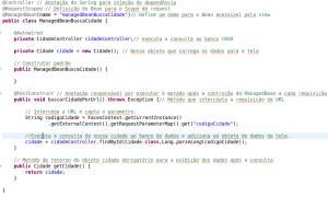 ManagedBean capturando parametro por URL em JSF