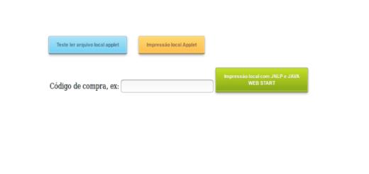 Impressão local em projeto java web