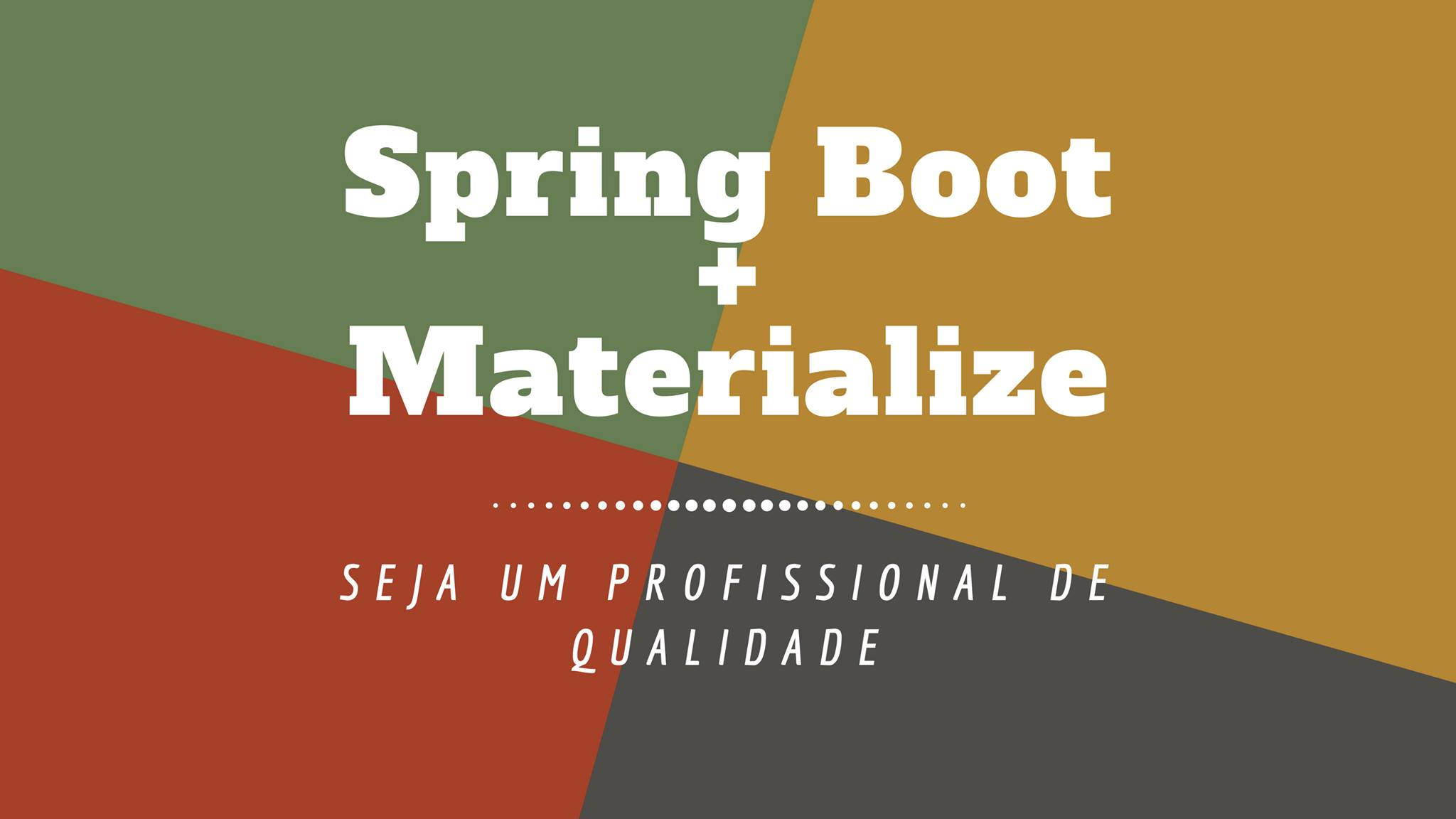 Spring Boot e Materialize