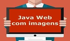 Código fonte de projeto web com imagens